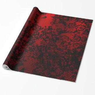 Ruby red black stylish floral vibrant elegant