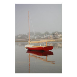 Ruby Red Catboat Provincetown Cape Cod Poster