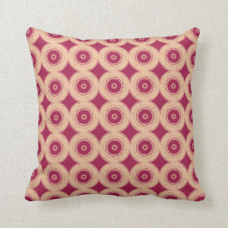 Ruby Red Cream Circles Cushion