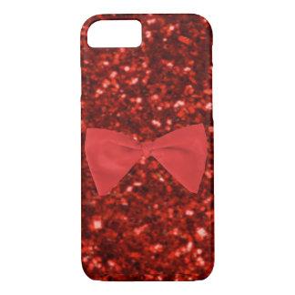 Ruby Red Glitter iPhone 7 Case