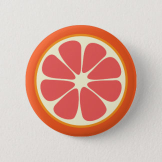 Ruby Red Grapefruit Juicy Sweet Citrus Fruit Slice 6 Cm Round Badge