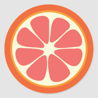 Ruby Red Grapefruit Juicy Sweet Citrus Fruit Slice Classic Round Sticker