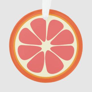 Ruby Red Grapefruit Juicy Sweet Citrus Fruit Slice Ornament