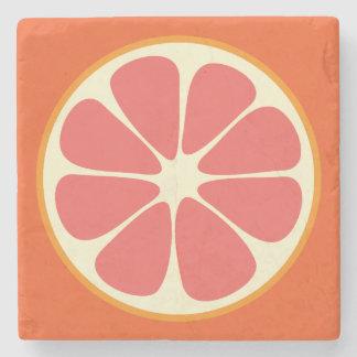 Ruby Red Grapefruit Juicy Sweet Citrus Fruit Slice Stone Coaster