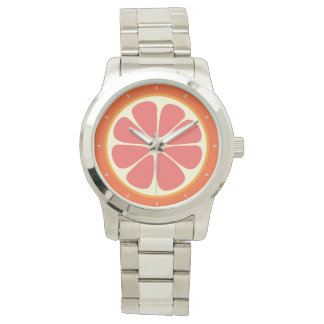 Ruby Red Grapefruit Juicy Sweet Citrus Fruit Slice Watch