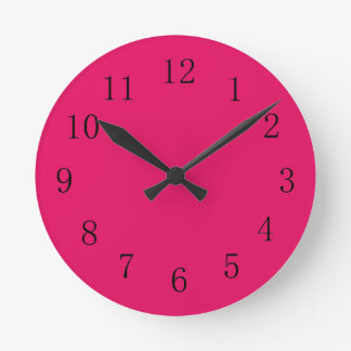 Ruby Red Kitchen Wall Clock