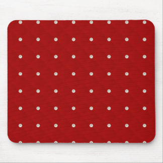 Ruby Red Pearl Stud Quilted Mouse Pads