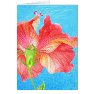 """""""Ruby Red Poolside"""" ~ Greeting Card 5x7"""