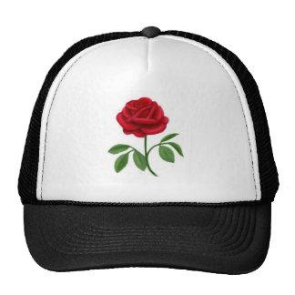 Ruby Red Rose Cap