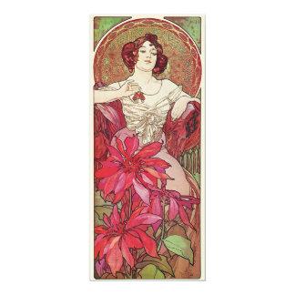 "Ruby Red Rose Goddess 4"" X 9.25"" Invitation Card"