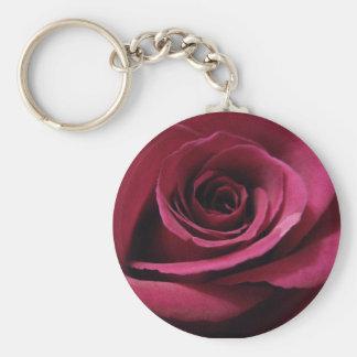 Ruby Red Rose Key Ring