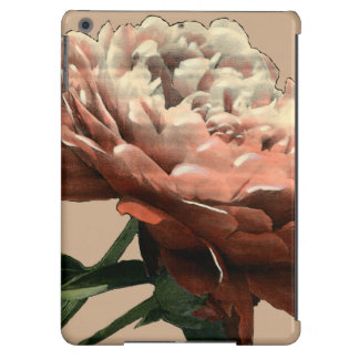Ruby Red Rose with White Accents iPad Air Cases