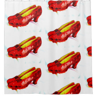 Ruby Red Slipper Shoes Shower Curtain Bath!