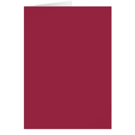Ruby Red Solid Colour Card