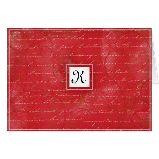 Ruby Red Thank You Card