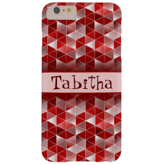 Ruby Red Triangles Pattern Customisable Barely There iPhone 6 Plus Case