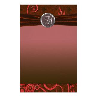 Ruby & Red Velvet Wedding Swirl Personalized Stationery