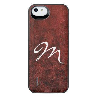 Ruby Scarlet Garnet Blood Jewel Tone Red Marble iPhone SE/5/5s Battery Case