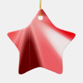 Ruby Starburst Ceramic Ornament