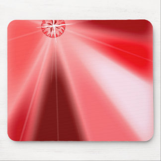 Ruby Starburst Mouse Pad