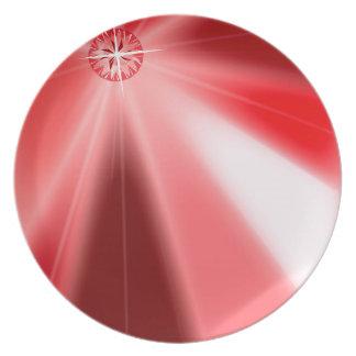 Ruby Starburst Plate