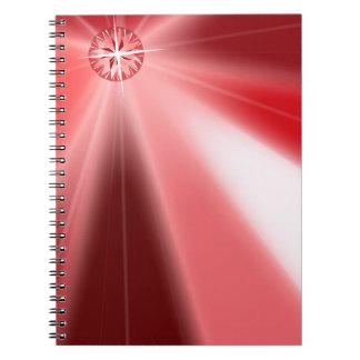 Ruby Starburst Spiral Notebook