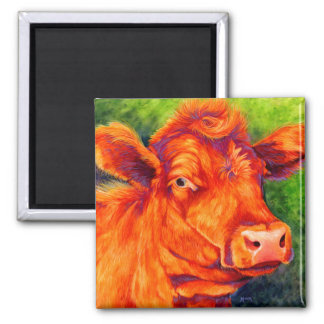 Ruby The Red Angus Cow Magnet