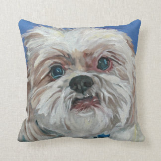 Ruby the Shih Tzu Portrait Pillow