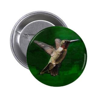 Ruby Throat Hummingbird Buttons