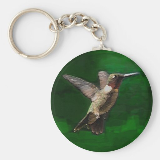 Ruby Throat Hummingbird Key Chains