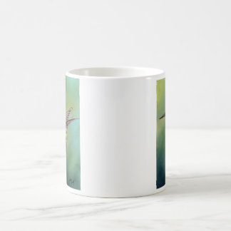 Ruby Throated Hummingbird Art Mug