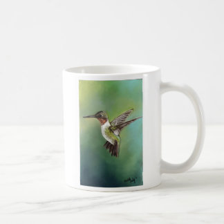 Ruby Throated Hummingbird Art Mug