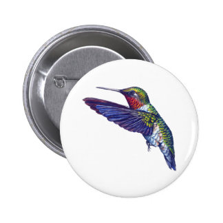 Ruby Throated Hummingbird Pin