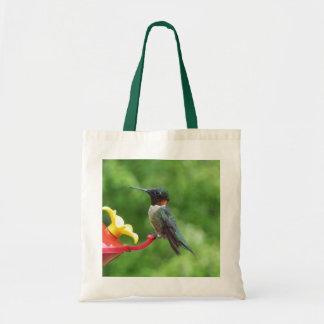 Ruby-Throated Hummingbird Bird Photography Tote Bag