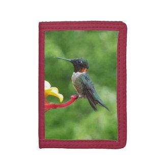 Ruby-Throated Hummingbird Bird Photography Tri-fold Wallet