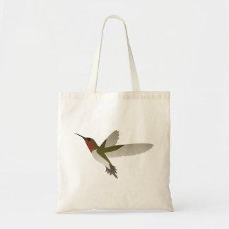Ruby Throated Hummingbird Budget Tote Bag