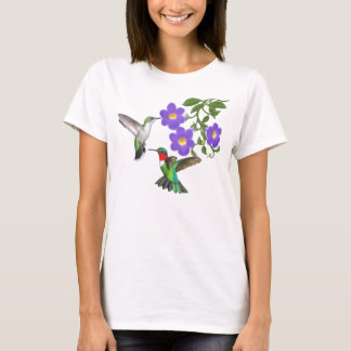Ruby Throated Hummingbird Couple Shirt