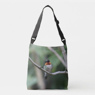 Ruby-throated Hummingbird Crossbody Bag