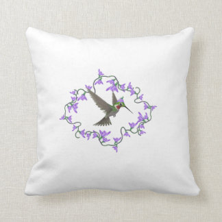 Ruby Throated Hummingbird Pillow