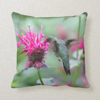 Ruby-throated hummingbird cushion