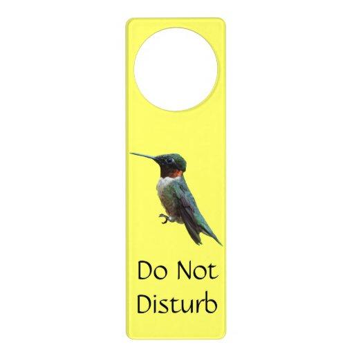 Ruby-Throated Hummingbird Door Knob Hanger