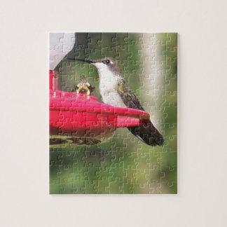 Ruby Throated Hummingbird Jigsaw Puzzle