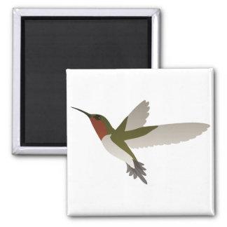 Ruby Throated Hummingbird Magnets