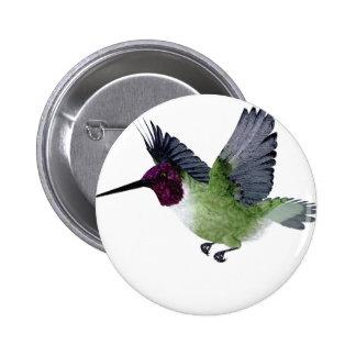 Ruby Throated Hummingbird Male Pin