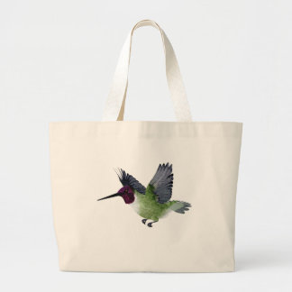 Ruby Throated Hummingbird Male Canvas Bag