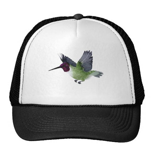 Ruby Throated Hummingbird Male Hat