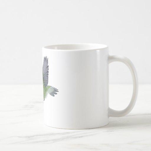 Ruby Throated Hummingbird Male Coffee Mugs