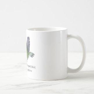 Ruby Throated Hummingbird Male with Name Coffee Mug