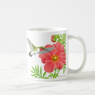 Ruby Throated Hummingbird Mug