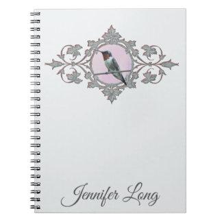 Ruby Throated Hummingbird Photo Notebook